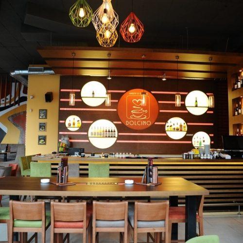 Kafe, Beograd, šank i viseći elementi